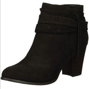 Fergalicious Black braid & Tassel Ankle Boots 11M
